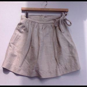 J. Crew Khaki Linen Skirt